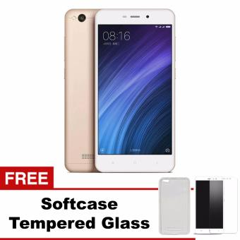 Xiaomi Redmi 4A Prime - 32GB - 4G LTE - Gold + Free Soft Case + Tempered Glass