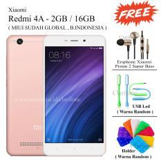 Xiaomi Redmi 4A - Ram 2GB - Rom 16GB - Layar 5 inch - Free 3 item - Rose Gold