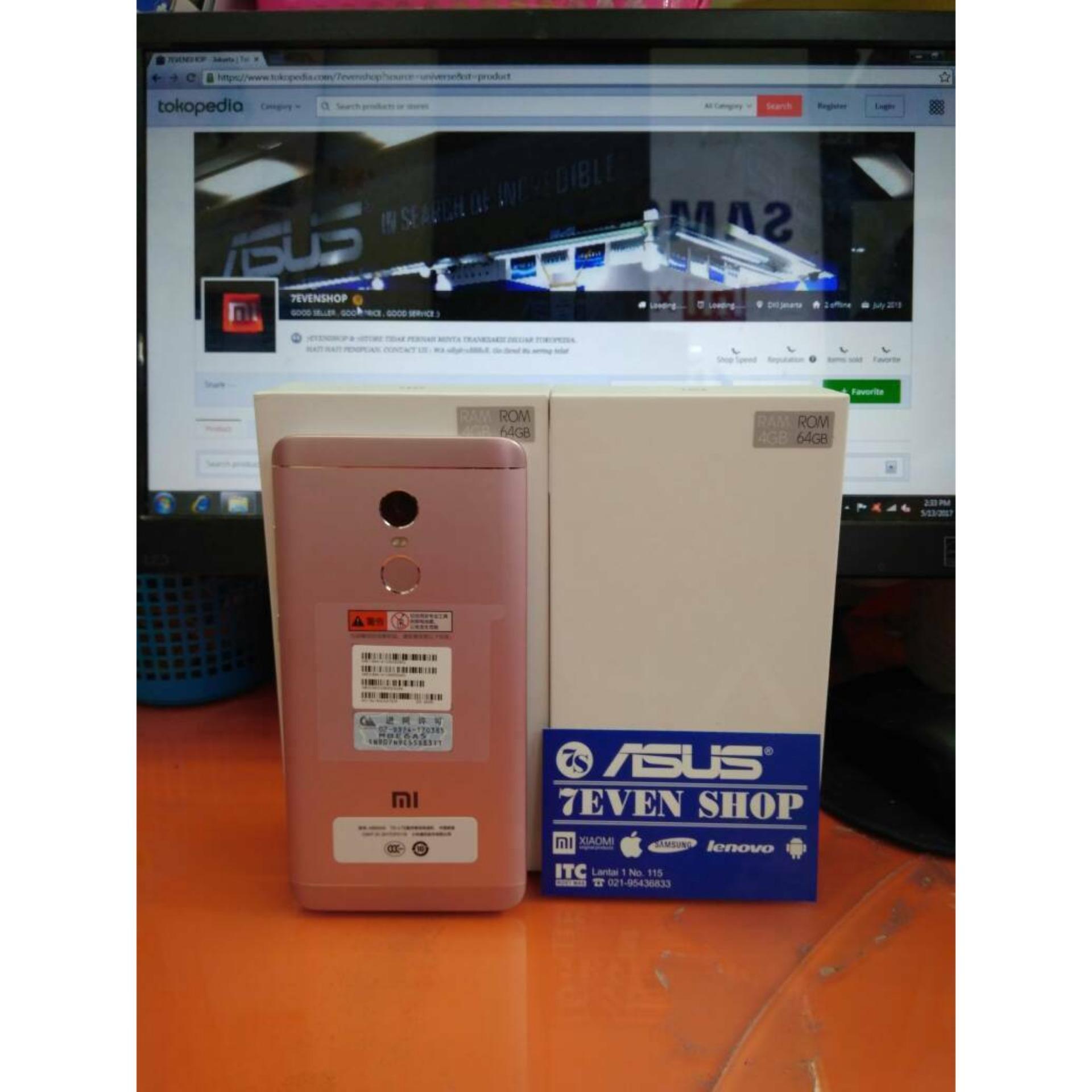 Harga Penawaran Xiaomi Redmi Note 4x Rose Ram 4gb Internal 64gb 4g Dual Sim Putih