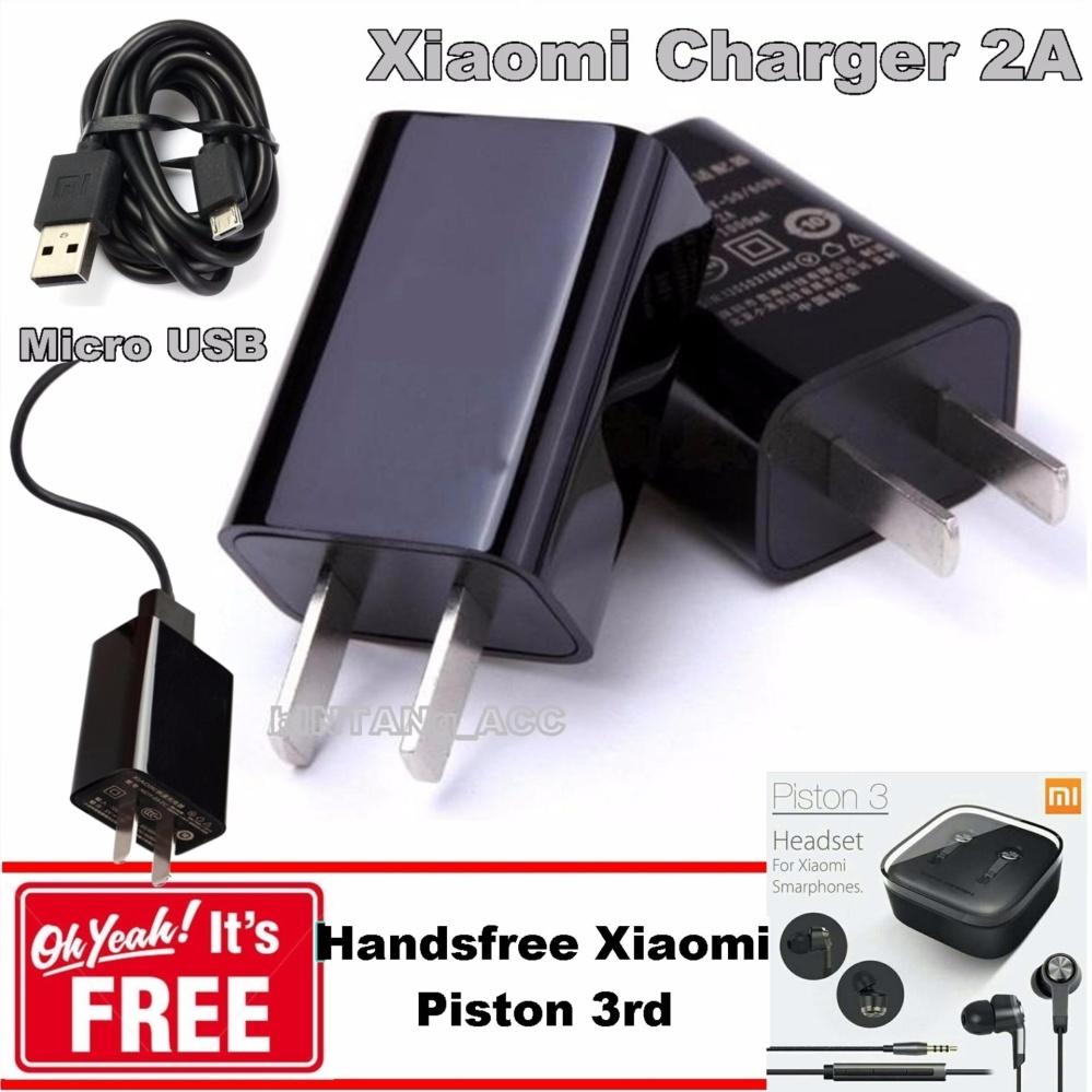 Handsfree Xiaomi Piston 3rd; Xiaomi Travel Chager 2A Original Include Adapter + GRATIS!!! Handsfree Xiaomi Piston 3rd ...