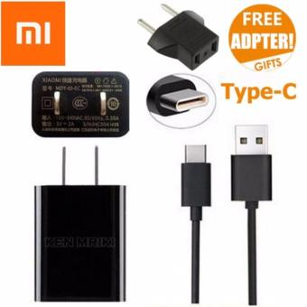 Xiaomi Travel Charger Type C for Xiaomi Mi4C 2A Original Nonpack -Hitam