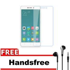 Xiaomi Xioami Xiomi Redmi 3 / 3s / 3x / Pro / Prime Tempered Glass Screen Protector 0.32mm - Anti Crash Film + Gratis Free Headset / Handsfree - Bening Transparan