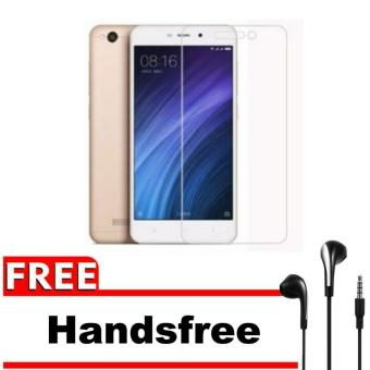 Hot Deals Xiaomi Xioami Xiomi Redmi 4A / Prime Tempered Glass Screen Protector 0.32mm - Anti Crash Film + Gratis Free Headset / Handsfree - Bening ...