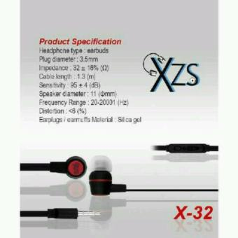 Harga Yarden Universal X-32 Stereo Super Bass Headsfree Excellent SoundQuality With Mic - warna random