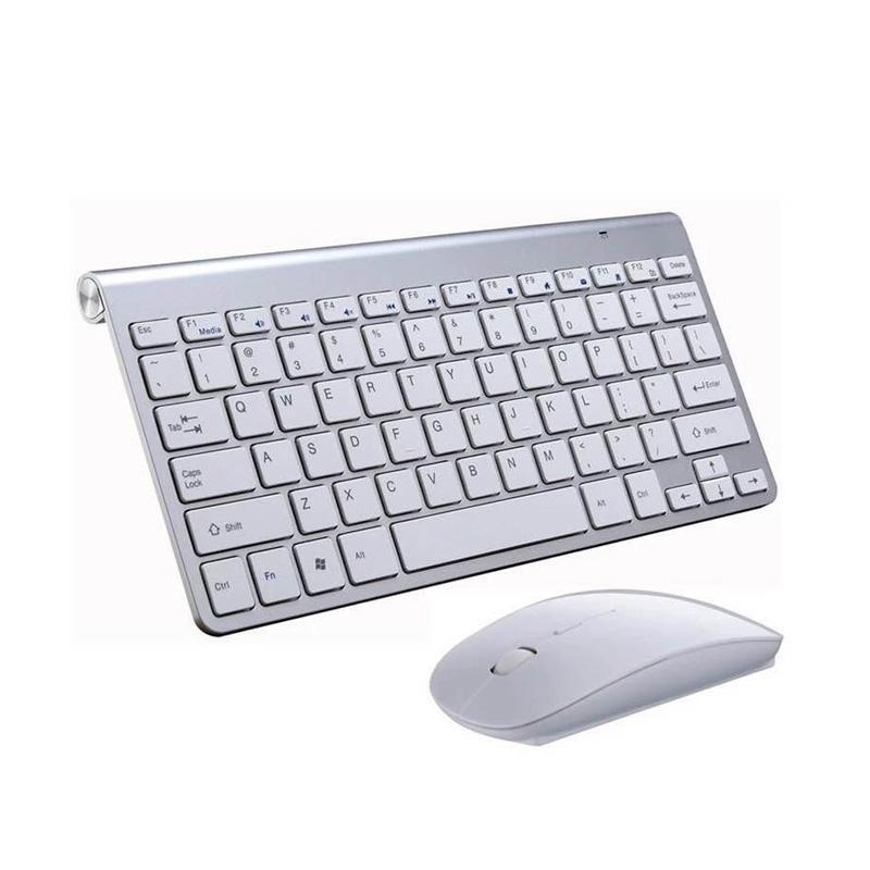... YBC Ultra Slim Wireless Keyboard dengan Mouse Kit Set untuk Desktop Laptop PC ...
