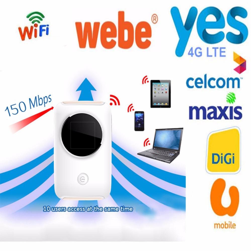 Jual Beli Yes 4g Lte Wifi Router 150mbps Hotspot Car Mifi Modem Huawei E5575s Unlock Bundling Telkomsel Black Broadband Wi Fi For Digimaxiscelcomwebe Intl