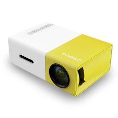 YG300 LCD Portabel Mini 1080 P LED Rumah Sinema Proyektor Teater USB SD HDMI Kami Steker