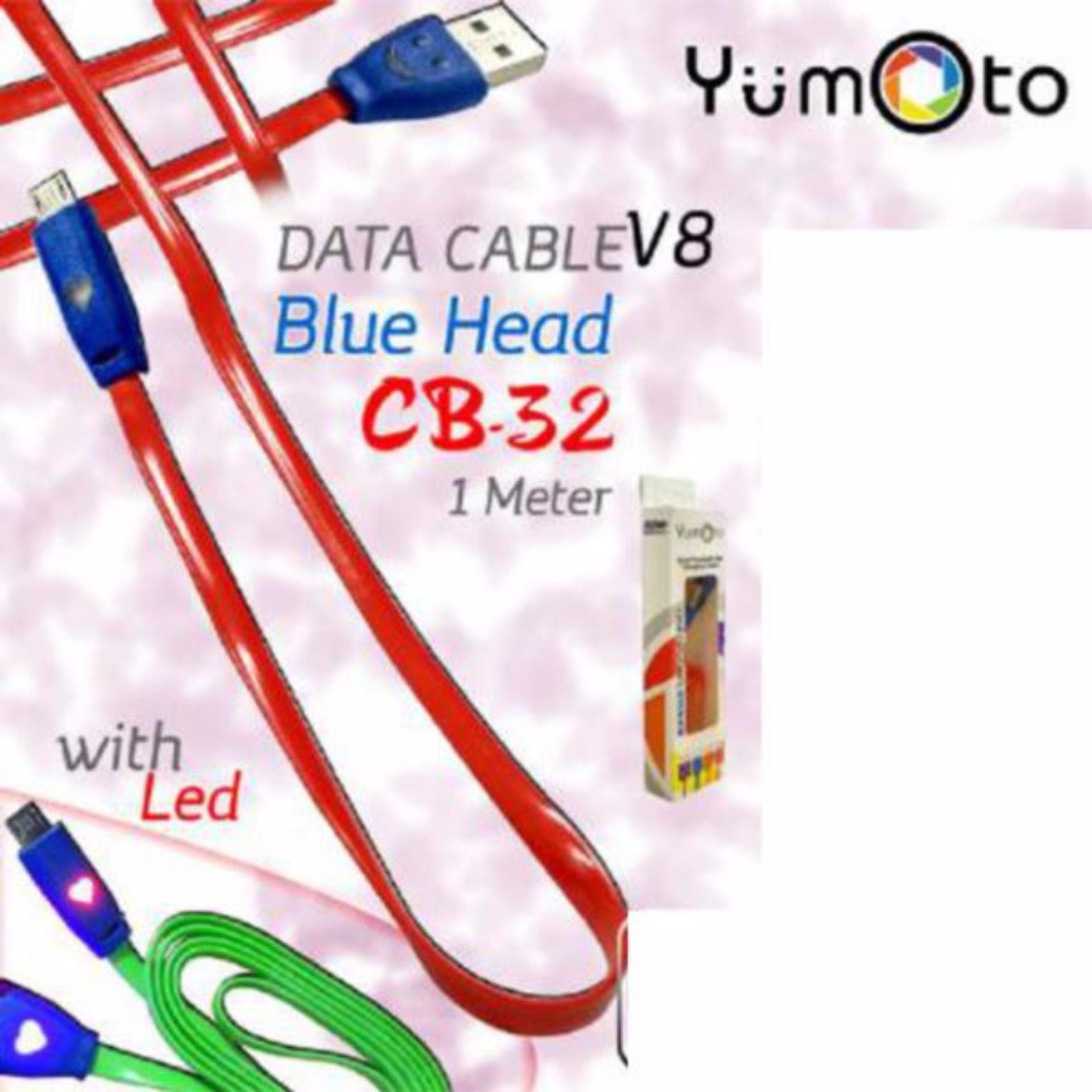 Yumoto Kabel smile nyala Data Charger Micro USB For Samsung 1 meter - random