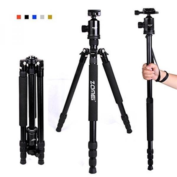 Zomei Z818 65-inch Ringan Kamera Tripod, Aluminium Portable Detachable Monopod, 360 Derajat