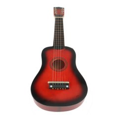 21 Inch 6 String Acoustic Guitar Red Beginners Practice Musical Instrument