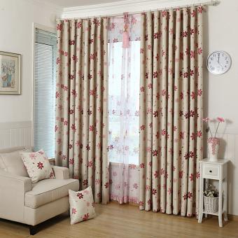 ... X 200 cm. Source · 1 buah kamar tirai daun jendela panel kain pual pola Merah tirai tipis - International 100