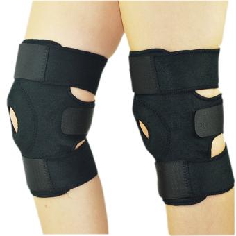 1 pasang laki-laki dan perempuan siku dan lutut dapat disesuaikan tali pengikat bantalan lutut