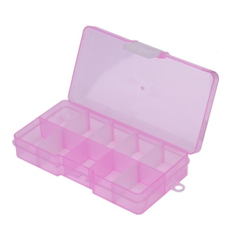 10 Grids Storage Box Detachable Jewelry Small Components Case(Pink) - intl