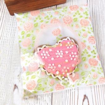 100 buah permen plastik tas ulang tahun pernikahan tas hadiah (mawar 10 cm x 10
