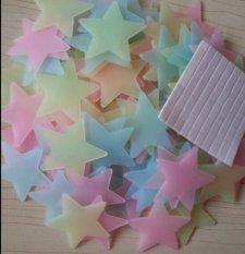 100 buah rumah dinding cahaya malam langit-langit stiker bintang ruang kamar anak bayi