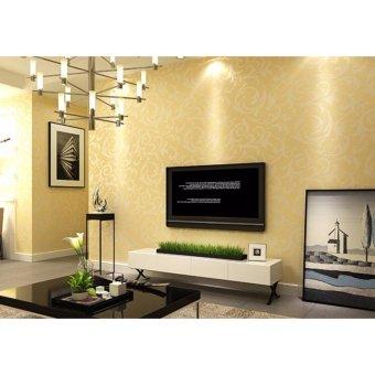 1000*53cm 3D Wallpaper European Style Acanthus Mollis Mirror WallPaper Sticker for Living Room - intl - 5