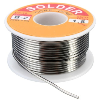 100g 63/37 Tin Lead Rosin Core 0.5-2mm 2% Flux Reel Welding Line Solder Wire 1.5mm - intl - 3