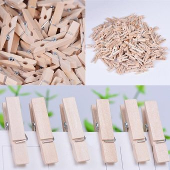 ... Clips Source · 100x 25MM Mini Natural Wooden Clothe Po Paper Peg Clothespin CraftsClips intl 3