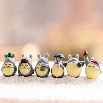 12 buah/set tetanggaku Totoro Mini gambar lumut dibetulkan hadiah mainan multi alam mikro - 3