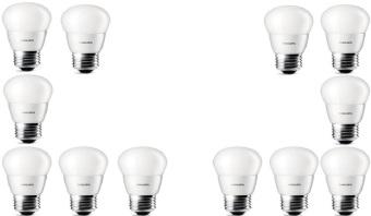 12pcs Lampu Bohlam LED Philips 4w/watt - 40watt Putih