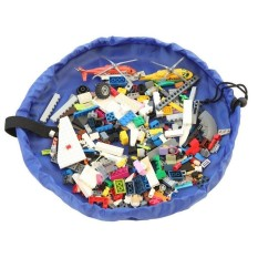 17.7 Inch/45 Cm Mainan Storage Bag Organizer (Biru)