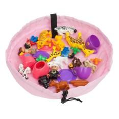 17.7 Inci/45 Cm Mainan Storage Bag Organizer (Pink)
