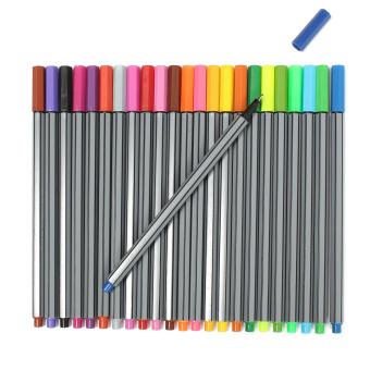 ... 24 fineliners pena 24warnd set spidol warna-warna-warni pastel kualitas terbaik seni lukisan ...