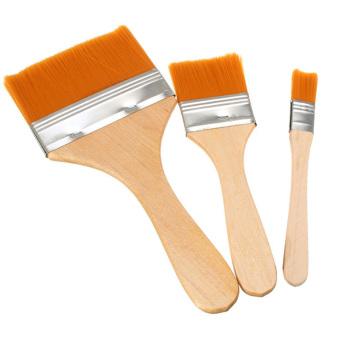 3 buah kayu menangani rambut sikat nilon besar area seni melukislukisan cat minyak gosok pelapisan-