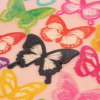 3 D Butterfly Wall Sticker Kamar Tidur Living Room Televisi Latar Belakang Sticker (Multicolor) - Pola D