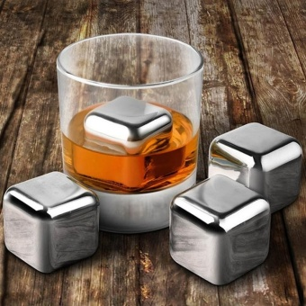304 Stainless Steel Red Wine Whiskey Ice Cubes Stone - intl