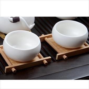 ... 360DSC Bambu Alas Cangkir Teh Square Alas Cangkir Buatan Tangan Untuk Kungfu Tea Insulasi Panas Alas ...