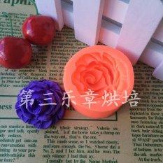 3D Rose Silikon Cetakan Kue Fondant Chocolate Clay .