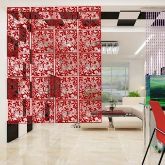 4 buah bunga kupu-kupu burung tergantung layar Panel dinding partisi pembatas ruangan rumah -