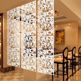 4 buah tergantung tampilan partisi ruangan pembatas stiker dinding bunga kupu-kupu putih - Internasional