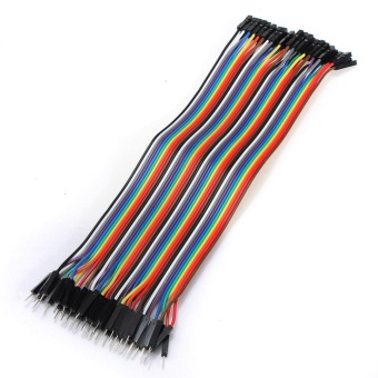 40pcs 20cm 2.54mm Dupont Male to Female Breadboard Jumper Wire Cable For Arduino - intl