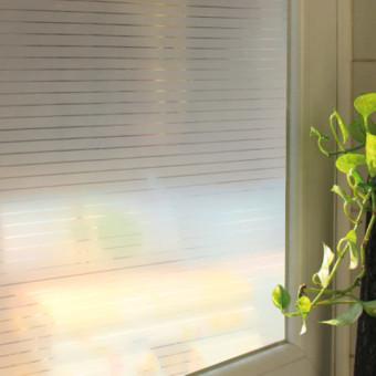 45 cm X 200 cm Garis Jendela Buram Kaca Film Stiker Perekat Privasi Kamar - Internasional