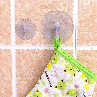 5 buah kait gantungan dinding transparan kamar mandi dapur mangkoksedotan pengisap Accessorie 2.5 cm - 5