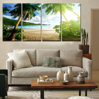 5 Pemandangan Lukisan Kanvas Panel Dinding Ruang Tamu Gambar Dekorasi Rumah Seni