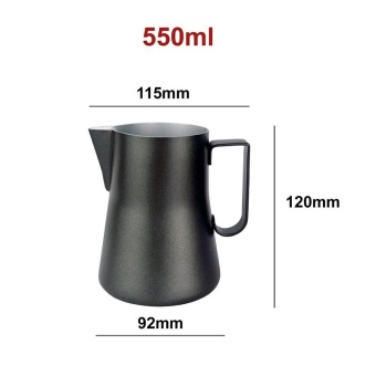 550ML Stainless Steel Coffee Frothing Jug Pitcher Milk Bubble Foam Pitcher Cup for Coffee Lovers Kitchen Tools Drinks - intl