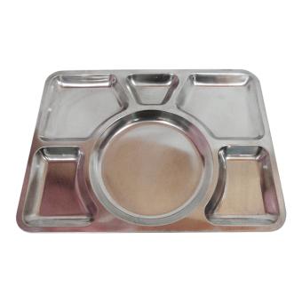 555 SA Piring Makan Stainless Steel - Silver