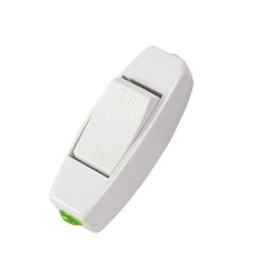 6A 250V Lnline ON/OFF Table Lamp Desk Light Cord Control Switch White - intl