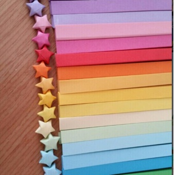 ... 80pcs Origami Lucky Star Paper Strips Folding Paper Ribbons Colors intl 2