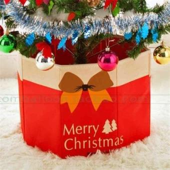 90cm paket gaun Natal pohon Natal celemek Natal rok pohon
