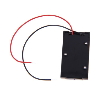 Harga 9V Volt PP3 DIY Charger Holder Case Box Base PCB Mount With Bare Wire Ends