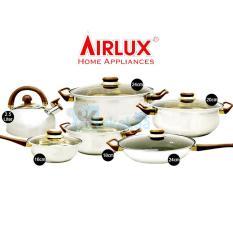 AirLux Panci Set Cookware Stainless Set Lengkap S8012x
