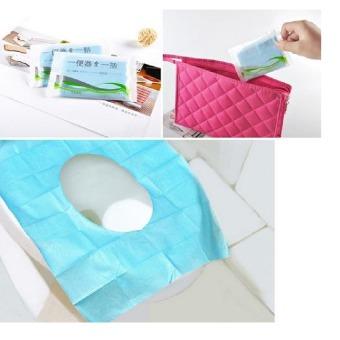 Alas Kertas Kedap Air Disposable Closet Seat Cover Kertas Alas Toilet - 1 Pcs - 2