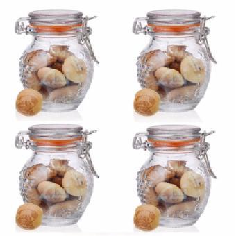 Alibambah Toples Kecil Kaca Kilner Jar 4 Pcs - ALB-12065C - 125 ml