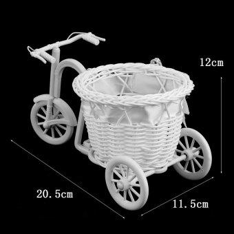 Allwin Simpul Rotan Sepeda Roda Tiga Keranjang Hadiah Pesta Dekorasi Pernikahan Dekorasi Rumah Ungu - 4