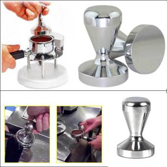 Amart Coffee Barista Espresso Tamper Base Clear Body Stainless Steel Press - intl - 2 ...
