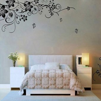 Amart Stickers Home Wall Sticker Flowers and Vine Mural Decal Art Stikers - intl - 2